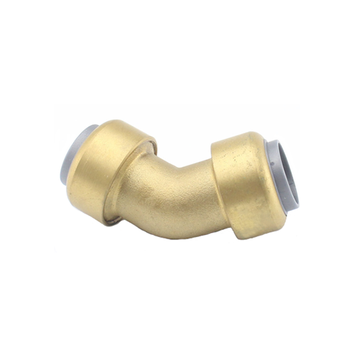 Brass Push Fit 45 Degree Elbow