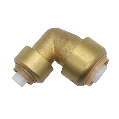 Brass Push Fit Reducer 90 Degree Elbow