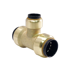 Brass Push Fit Reducer Tee