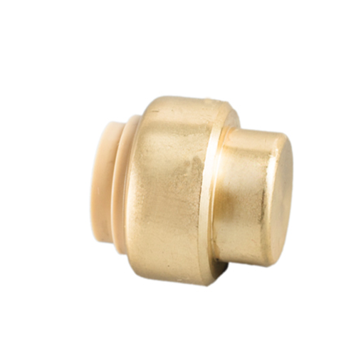 Brass Push Fit Tube Cap