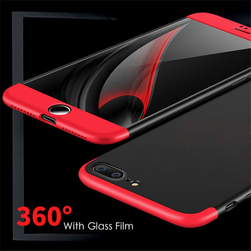 3 in 1 Knight Armor Phone Cases For iphone 7 6 6s Plus SE 5 5S Case Ultra thin Matte 360 Back Cover Shell Free Screen Glass Film