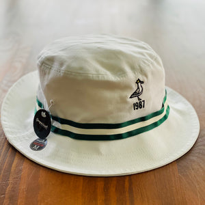 King Seve 1987 Bucket Hat - White w/ Green/White Ribbon