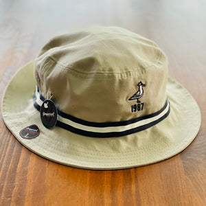 King Seve 1987 Bucket Hat - Khaki w/ Black/White Ribbon