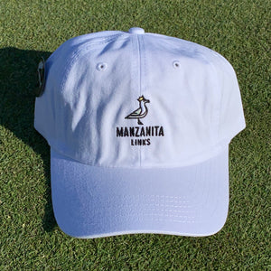 Manzanita Links Dad Hat - Seagull White