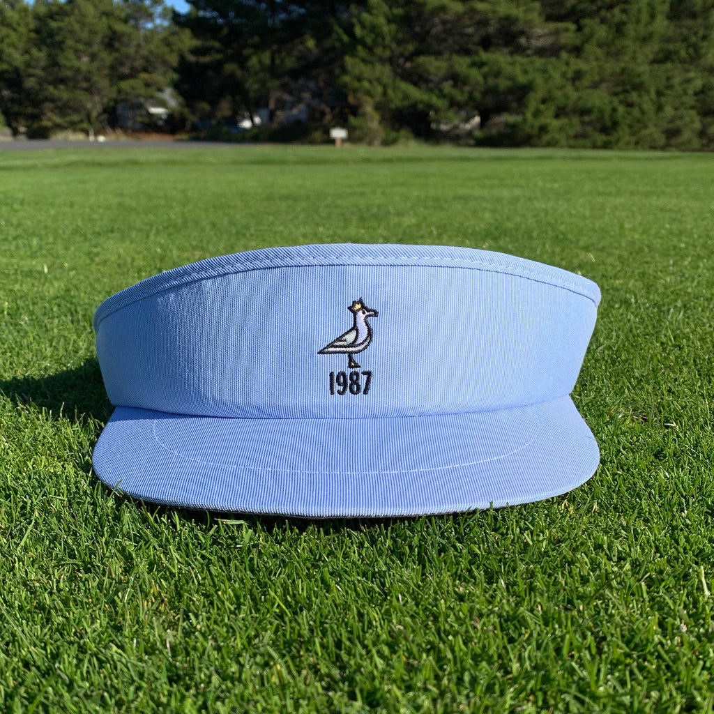King Seve 1987 Classic High Crown Tour Visor - Seersucker Blue