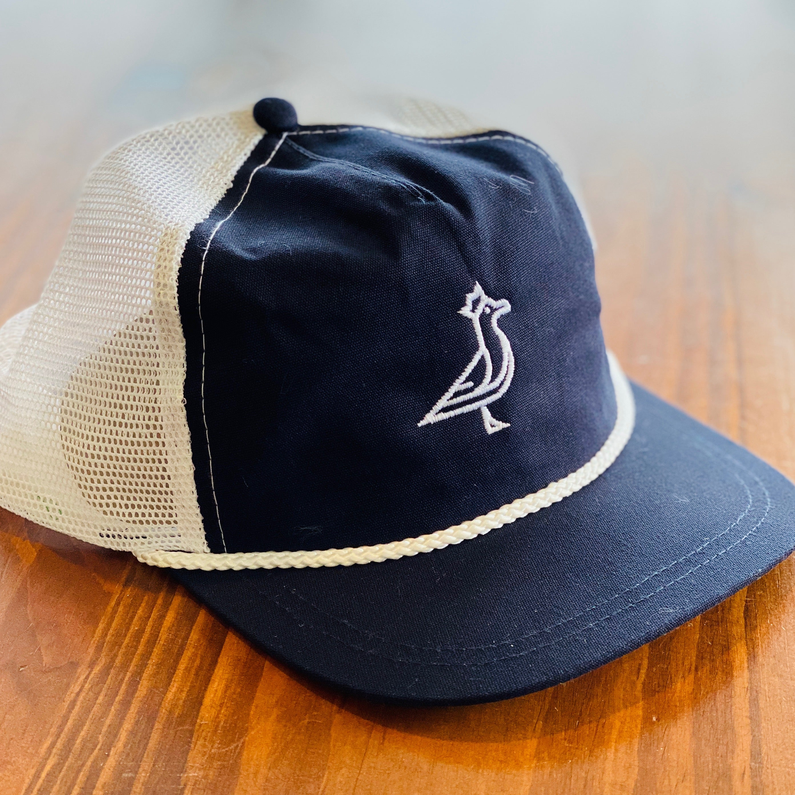 King Seve Navy Mesh Rope Cap