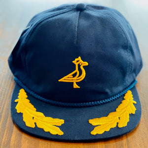 Admiral Seve Navy & Gold Rope Cap - Gold 3D Logo