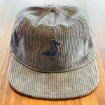 King Seve Corduroy Rope Cap - Charcoal Tone On Tone 3D Logo