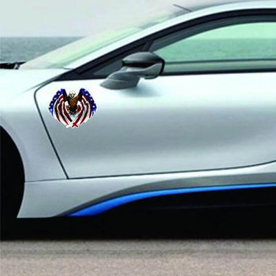 Medium Auto Decal Eagle USA Flag - Veteran Merchandise