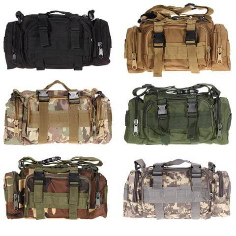 Military Tactical Over The Shoulder Pouch Duffel Bag Style - Veteran Merchandise