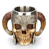 Spirit Of The Strong Horned Viking King Skull Mug