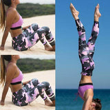 Hight Waist Fitness Pink Camouflage Leggings - Veteran Merchandise