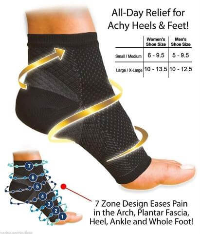 Plantar Fascia Pain Relief Compression Support Ankle Sleeve