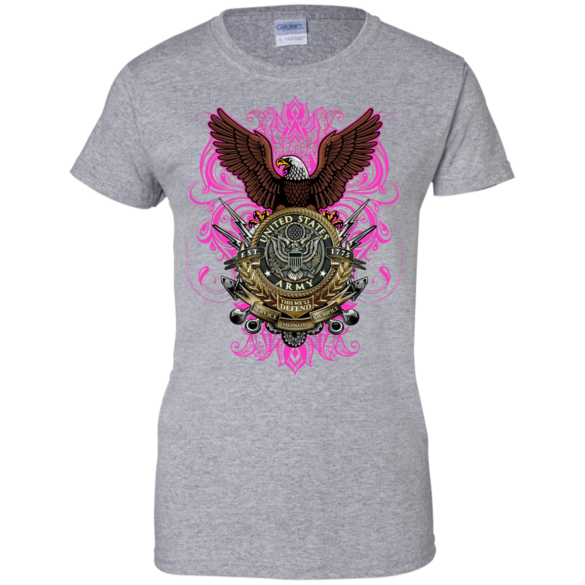 Army Ladies 100% Cotton Support T-Shirt