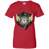 Coast Guard Ladies 100% Cotton Support T-Shirt