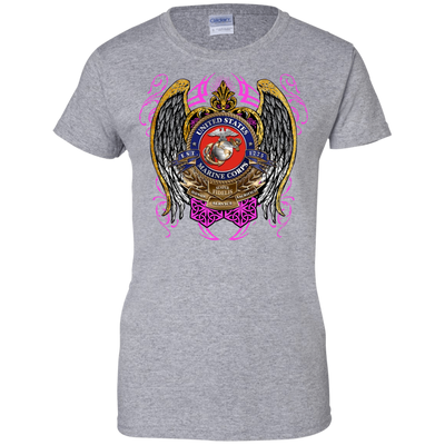 Marines Ladies 100% Cotton Support T-Shirt