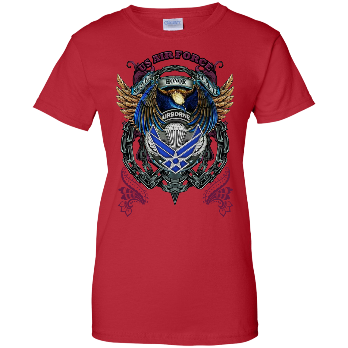 Air Force Ladies 100% Cotton Support T-Shirt