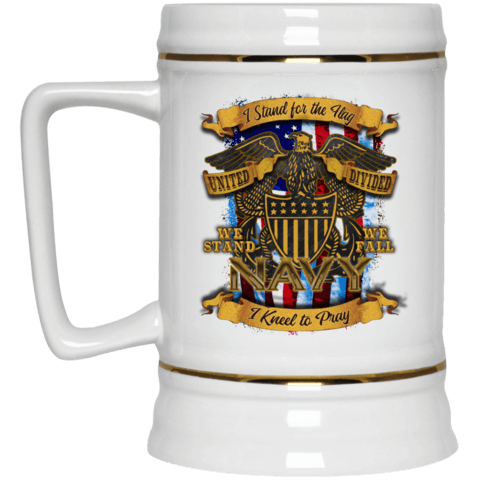 Navy Beer Stein 22oz.