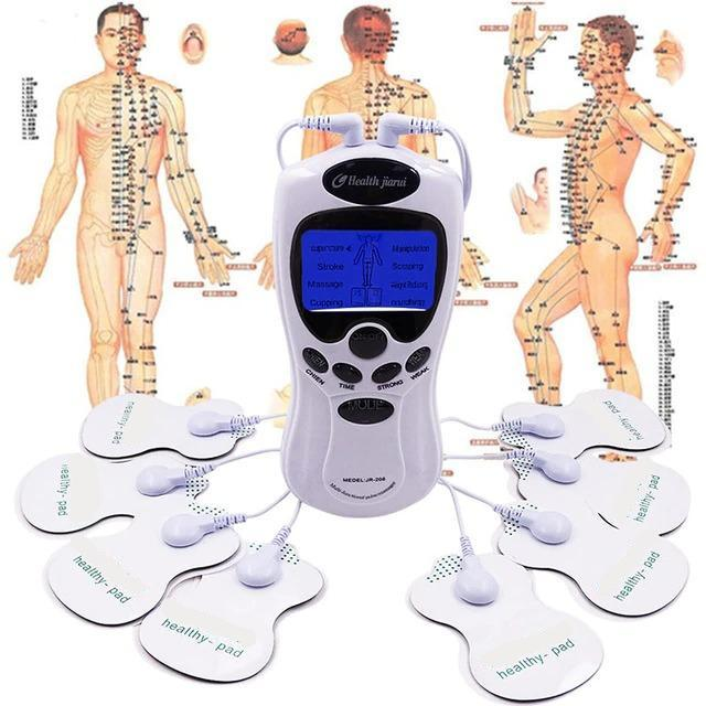 HJ8 Electronic Pulse Acupuncture Muscle Stimulation Therapy With 8 Electrode Pads