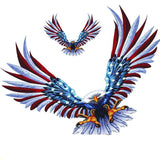 Large Auto Decal Eagle USA Flag