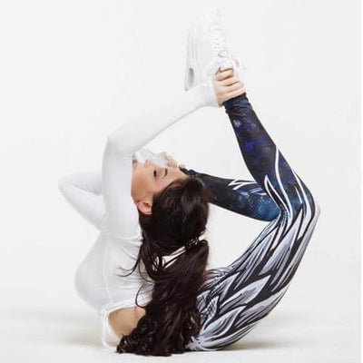 High Wasted Soring Wing Printed Sports Leggings - Veteran Merchandise