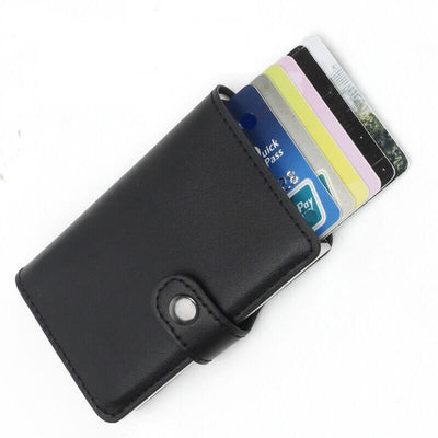 Quick Draw Anti-Theft Aluminum Alloy Wallet With RFID Technology