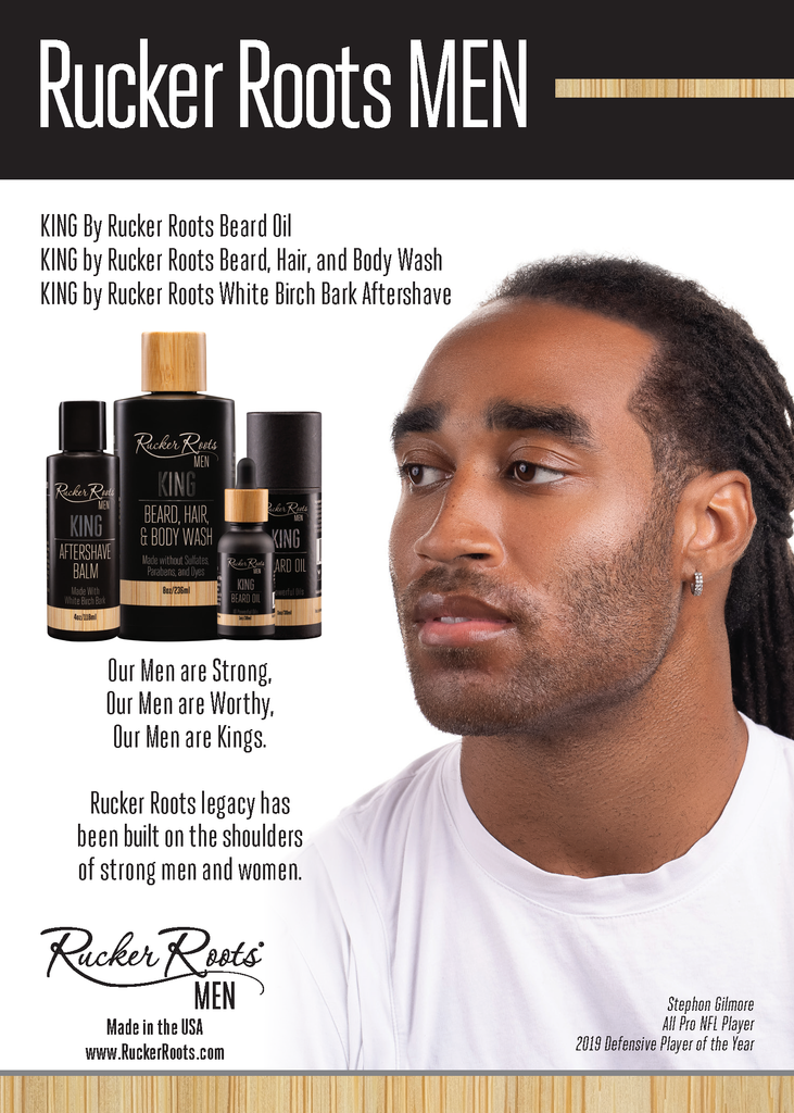 King by Rucker Roots 3-1 Men's Beard, Hair & Body Wash