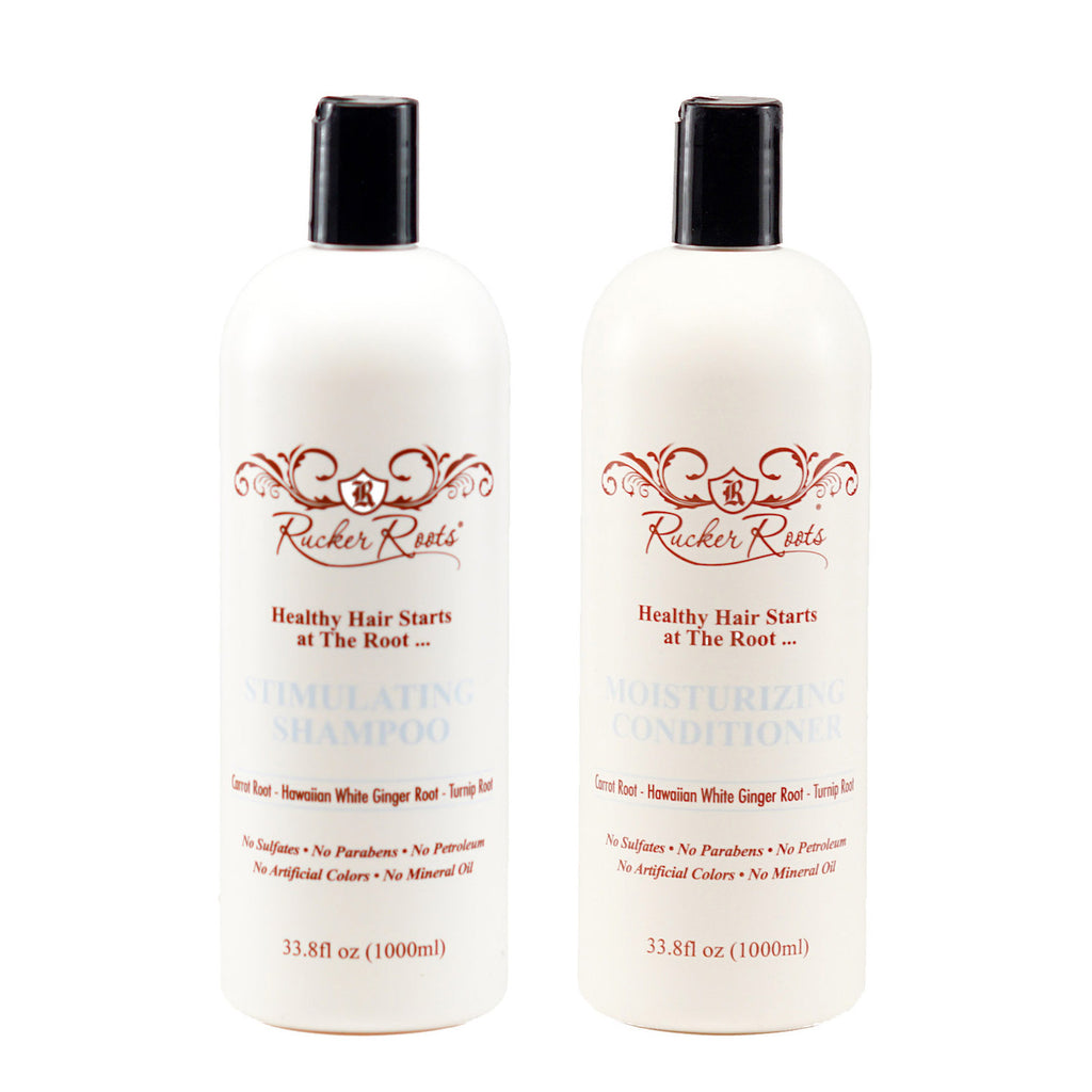 Stimulating Shampoo + Moisturizing Conditioner- 33.8oz Combo Pack