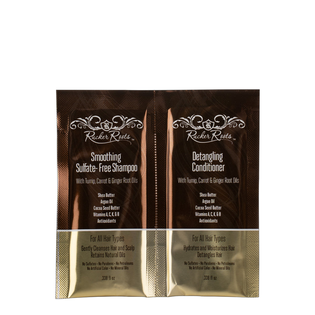 Smoothing Sulfate Free Shampoo & Detangling Conditioner Duo Travel Packet