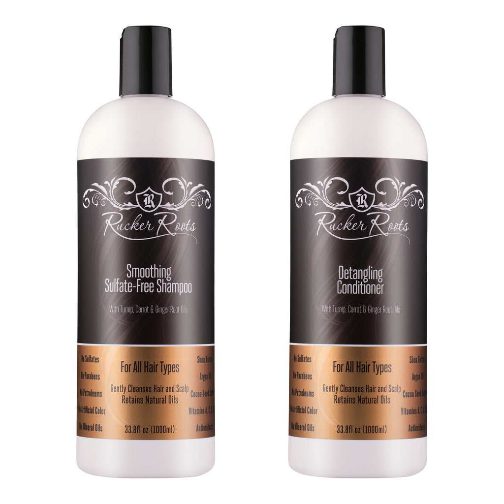 Shampoo + Conditioner 33.8oz - Smoothing Sulfate Free + Detangling Conditioner BACKORDER-WILL SHIP IN 2 WEEKS