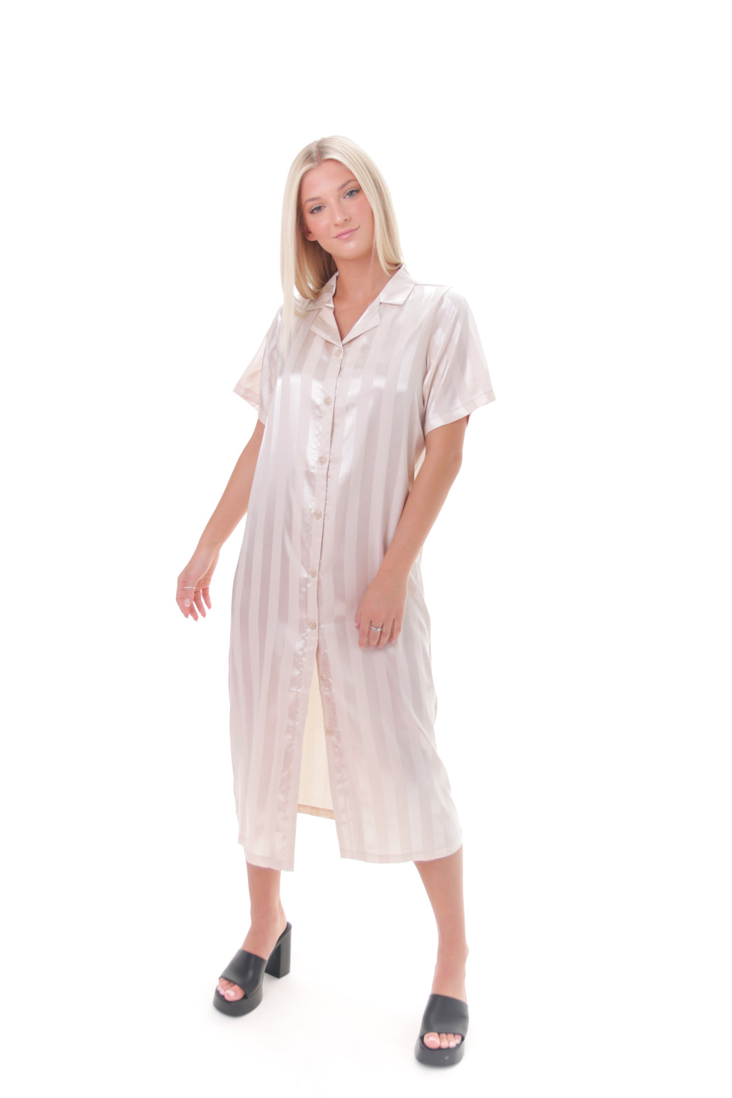 Champagne Shirt Dress