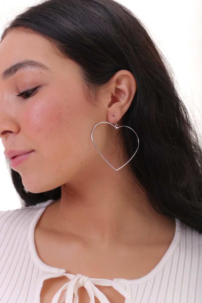 Heart Lover Hoops (Silver or Gold)