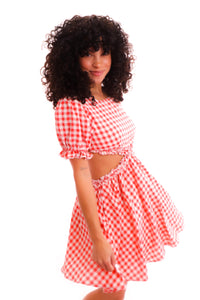 Plaid Babe Jumpsuit
