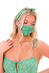 Spring Paisley Face Mask
