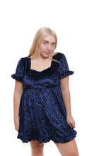 RYDEL Velvet Babydoll Dress