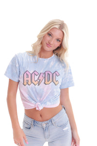 Tie Dye ACDC Band Tee