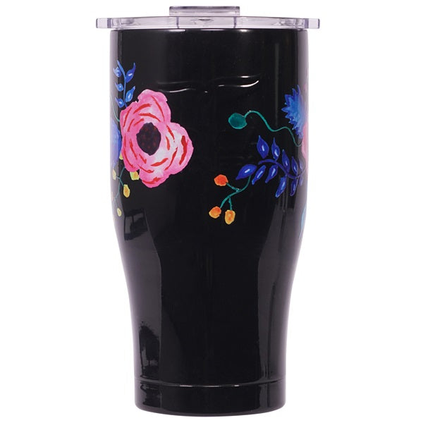 Floral Wrap Chaser 27oz Black/Clear Hg