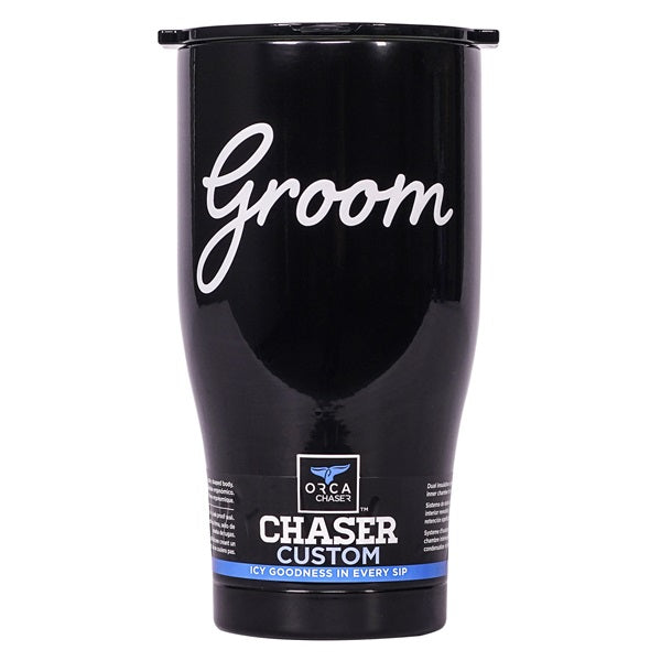 Groom Black/Black 27oz Chaser - ORCA