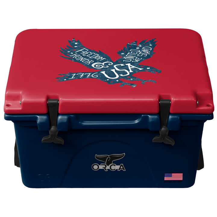 Freedom Eagle Navy/Crimson 26 Quart - ORCA