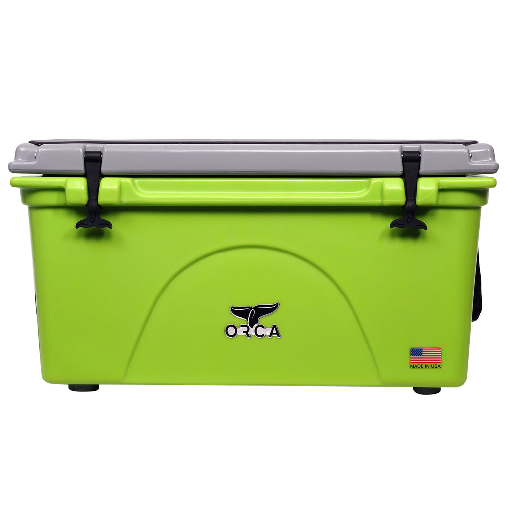 Lime Green/Gray 75 Quart W/ Slip Pad W/Basket - ORCA