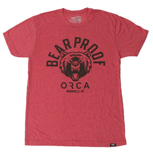 Bear Proof Heather Short Sleeve Red