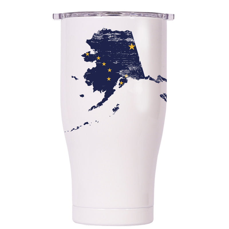 Alaska State Flag Distressed Chaser 27oz - ORCA