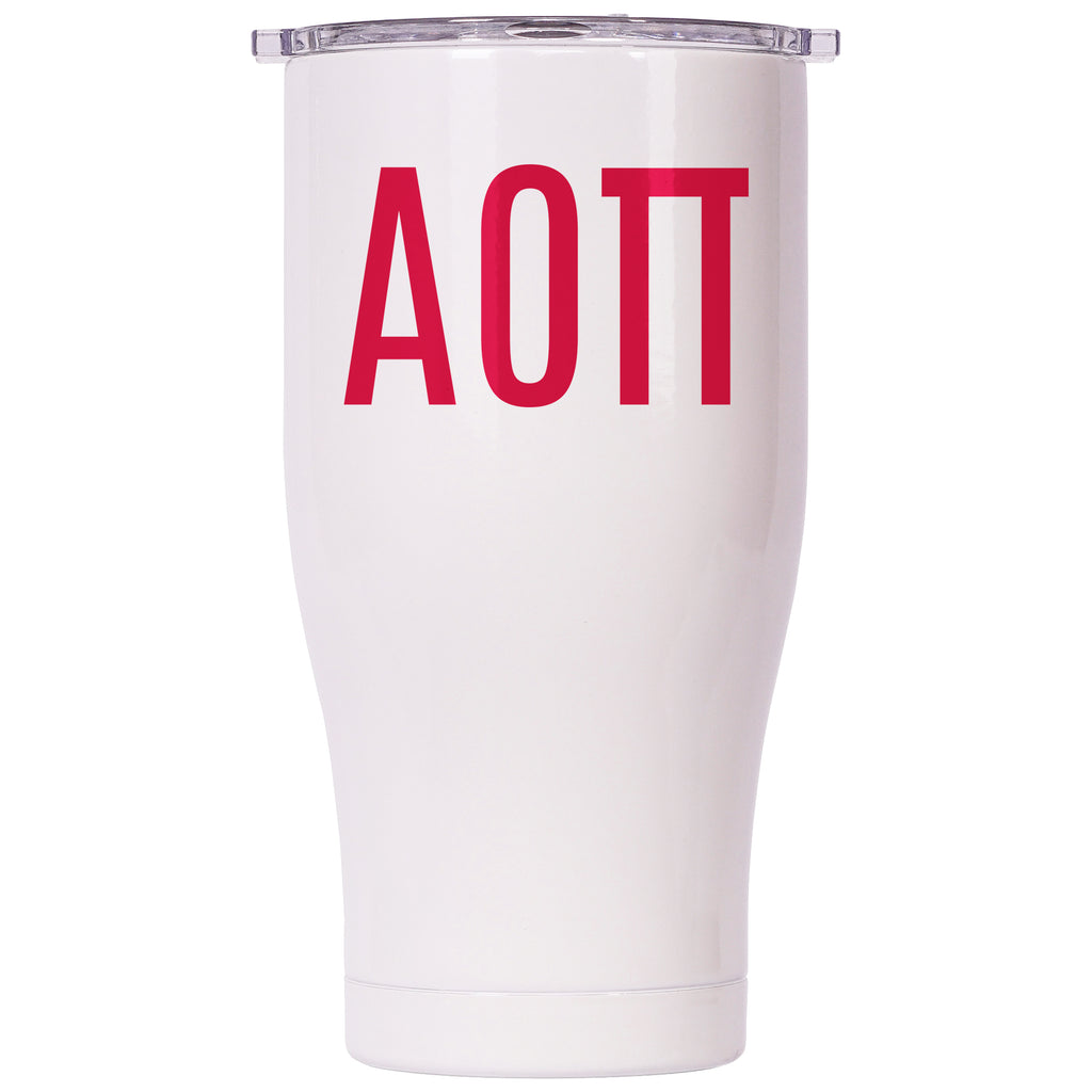 Alpha Omicron Pi Pearl/Clear Chaser 27oz - ORCA