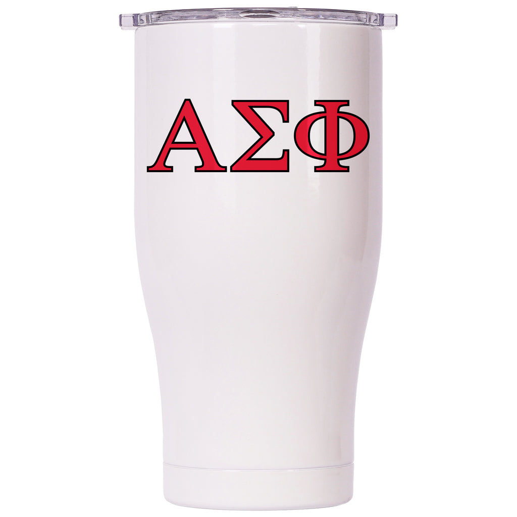 Alpha Sigma Phi Pearl/Clear Chaser 27oz - ORCA