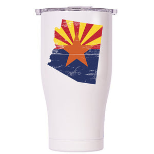 Arizona State Flag Distressed Chaser 27oz - ORCA