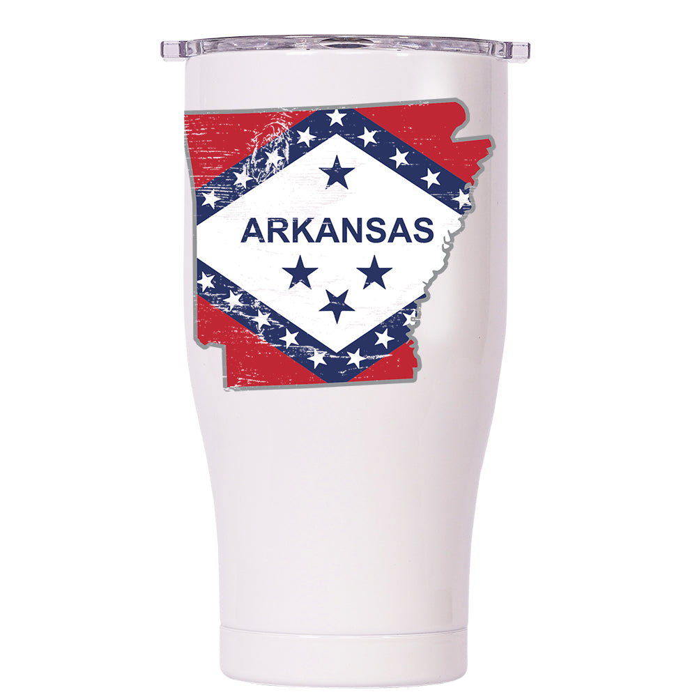 Arkansas State Flag Distressed Chaser 27oz - ORCA