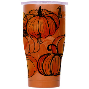 Pumpkin Patch Burnt Orange/White 27oz Chaser