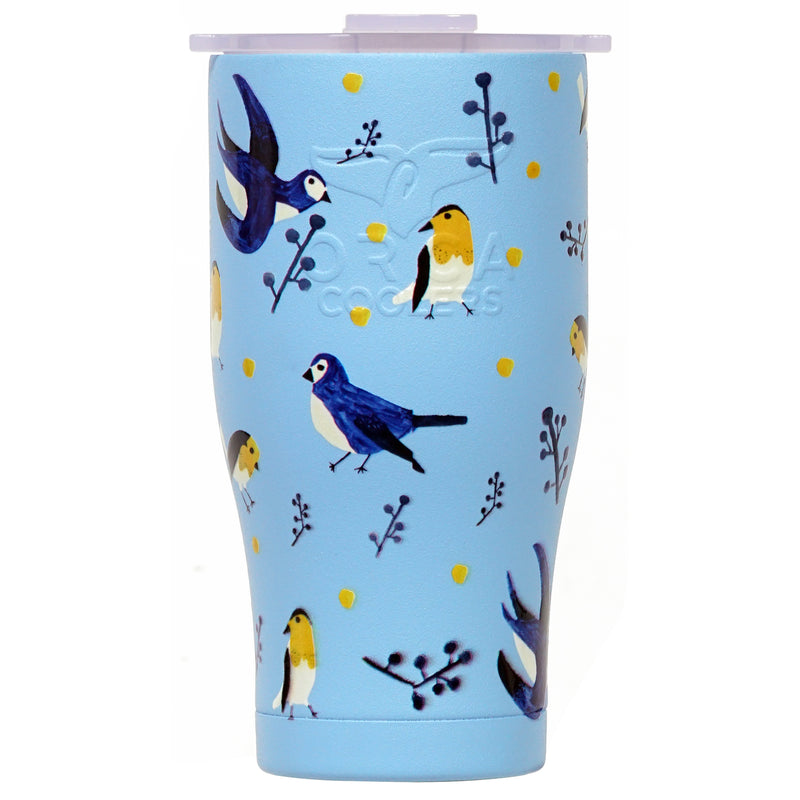 Birds and Berries 27oz Chaser Powder Blue/White - ORCA