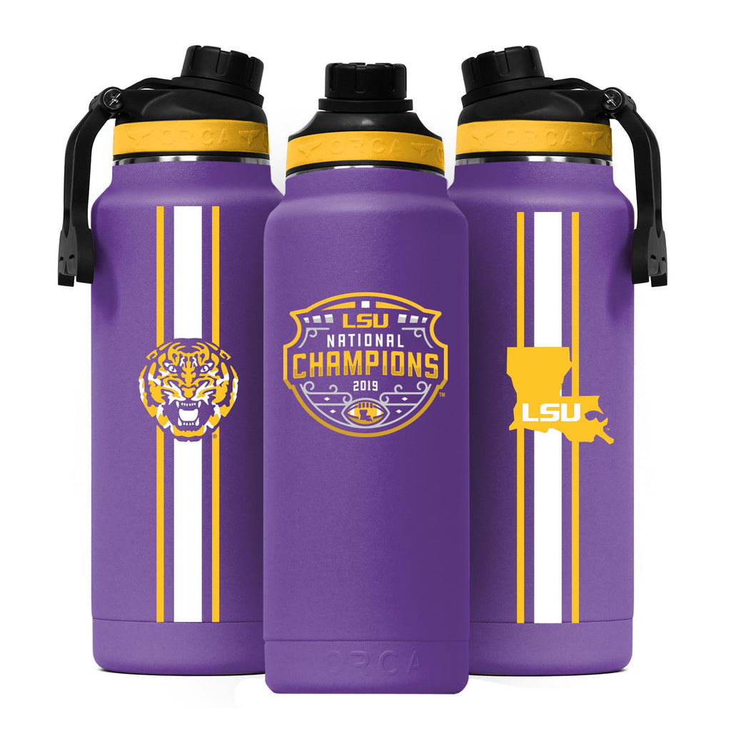 LSU Logo Purple National Champions Hydra 34oz - ORCA