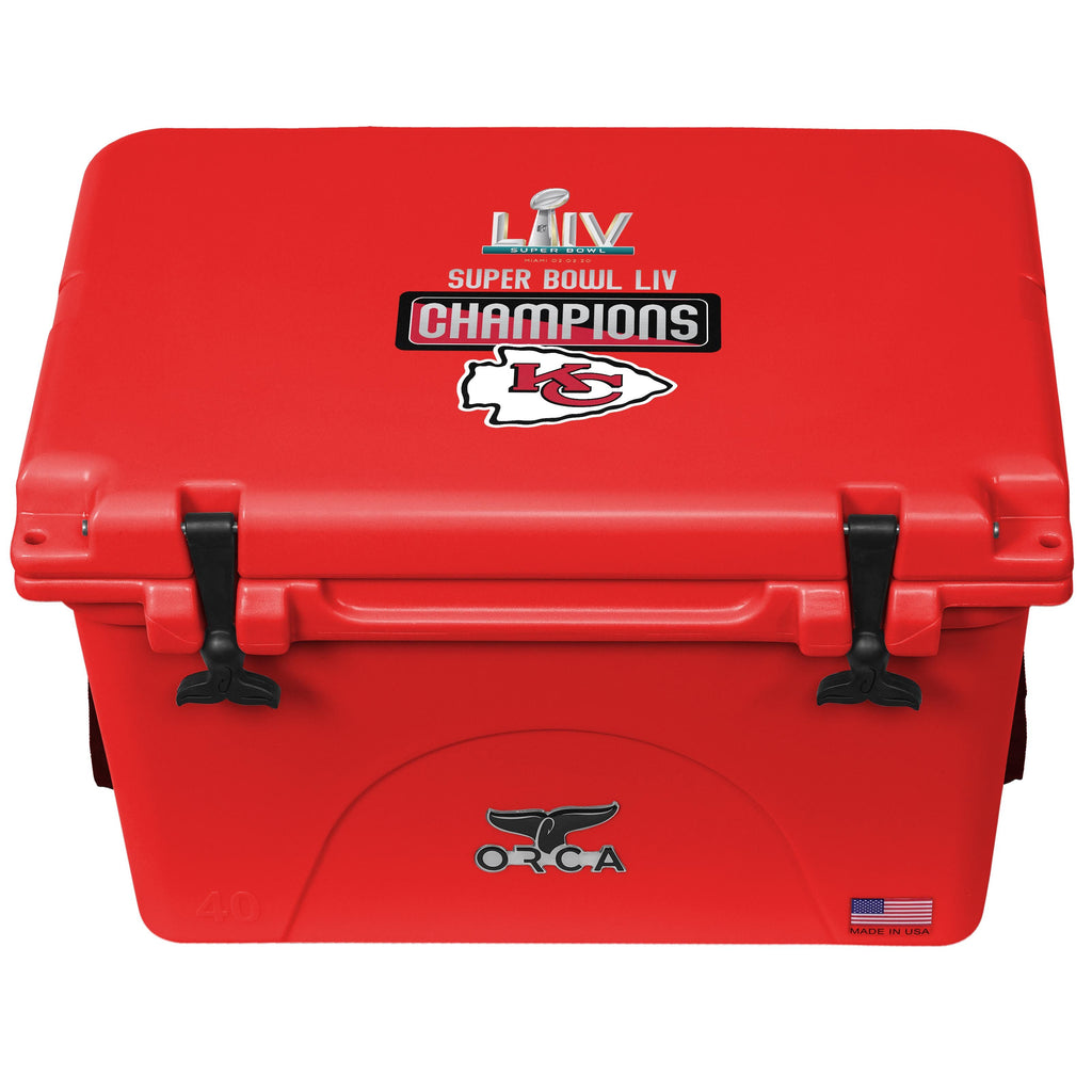 Super Bowl LIV Champs Kansas City Chiefs 40 Quart Red/Red - ORCA